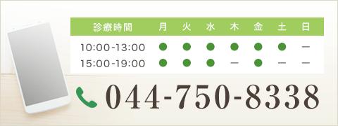 電話番号044-750-8338